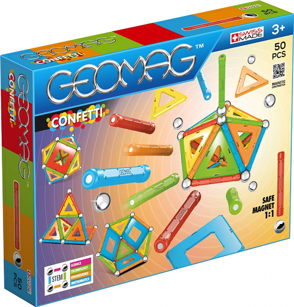 Kids Geomag 352 Confetti Magnetic Construction Set 50 Pcs Playset Gift
